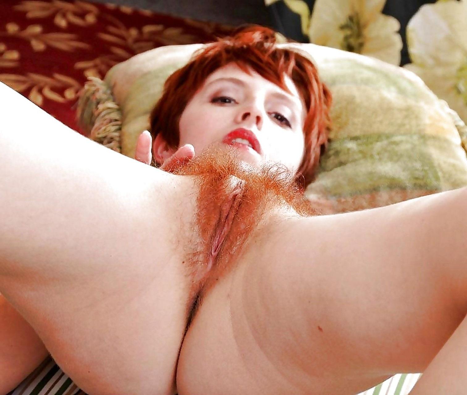 Порно с рыжими волосатыми письками